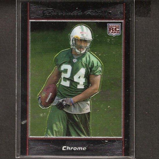 DARRELLE REVIS - 2007 Bowman Chrome Rookie - Patriots, Jets & Pitt Panthers