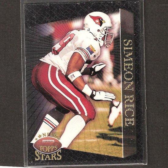 SIMEON RICE & TROY AIKMAN - 1997 Topps Stars ERROR WRONG BACK - Cardinals & Cowboys