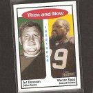 WARREN SAPP & ART DONOVAN - 2006 Topps Heritage Then & Now - Raiders & Dallas Texans