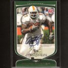 ARIAN FOSTER 2009 Bowman Draft AUTOGRAPH Rookie - Houston Texans & Tennessee Volunteers
