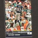 RANDY MOSS 2008 Stadium Club 1st Day Issue - Vikings & Tennessee Titans