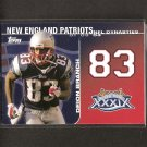 DEION BRANCH 2008 Topps Dynasties - New England Patriots & Louisville Cardinals