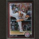 CLIFF LEE - 2010 Bowman Chrome REFRACTOR - Texas Rangers