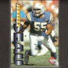 JUNIOR SEAU 1995 Collector's Edge PROMO - Chargers & USC Trojans