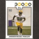 JERMICHAEL FINLEY - 2008 Topps Rookie - Packers & Texas Longhorns