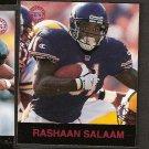 RASHAAN SALAAM - 1997 Fleer Goudey Gridiron Greats Parallel - Bears & Colorado Buffaloes