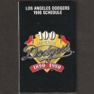 Los Angeles/LA Dodgers 1990 Pocket Schedule - 100th Anniversary