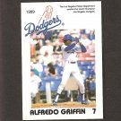 ALFREDO GRIFFIN - 1989 Los Angeles Police Department - LA Dodgers