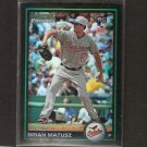 BRIAN MATUSZ - 2010 Bowman Chrome Refractor RC - Orioles & University of San Diego