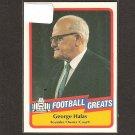 GEORGE HALAS - 1989 SWELL Football Greats - Bears & Illinois Fighting Illini