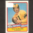 NORM VAN BROCKLIN - 1989 SWELL Football Greats - Rams, Eagles & Oregon Ducks