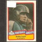 BOBBY LAYNE - 1989 SWELL Football - Bears,  Lions, Steelers & Texas Longhorns