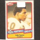 GALE SAYERS - 1989 SWELL Football Greats - Chicago Bears & Kansas Jayhawks