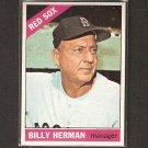 BILLY HERMAN 1966 Topps - Boston Red Sox - Near Mint