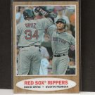 DAVID ORTIZ & DUSTIN PEDROIA 2011 Topps Heritage Chrome Refractor - Boston Red Sox