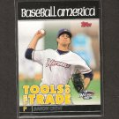 AARON CROW 2010 Topps Debut Tools of the Trade Rookie - Kansas City Royals