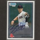 BRYCE BRENTZ - 2009 Bowman Chrome Autograph ROOKIE - Red Sox