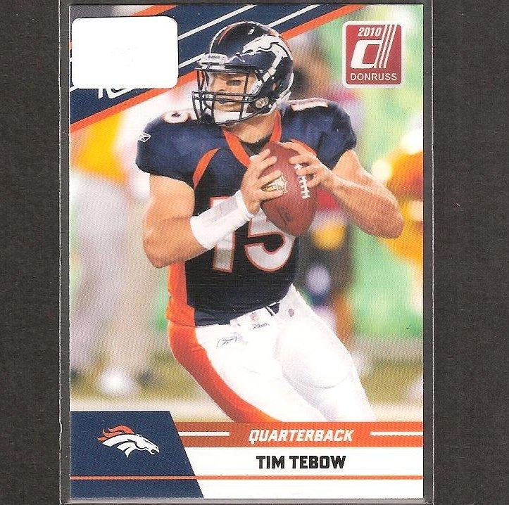 TIM TEBOW 2010 Donruss Rated Rookie - Broncos & Florida Gators