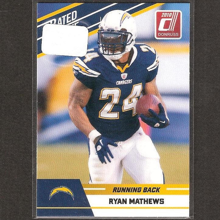 RYAN MATHEWS - 2010 Donruss Rated Rookie - Chargers & Fresno State