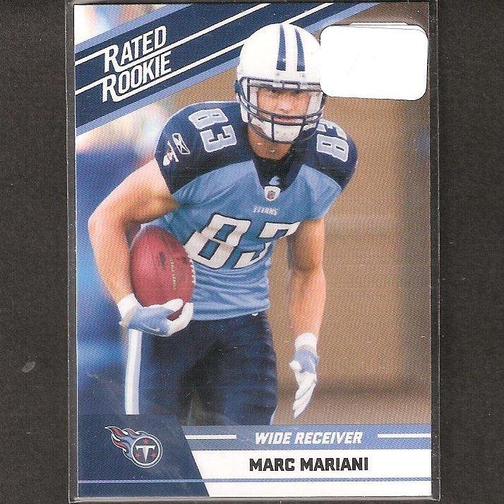 MARC MARIANI 2010 Donruss Rated Rookie - Titans & Montana