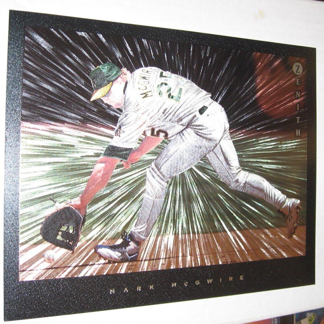 MARK McGWIRE - 1997 Zenith Dufex 8x10 - Oakland A's & St. Louis Cardinals