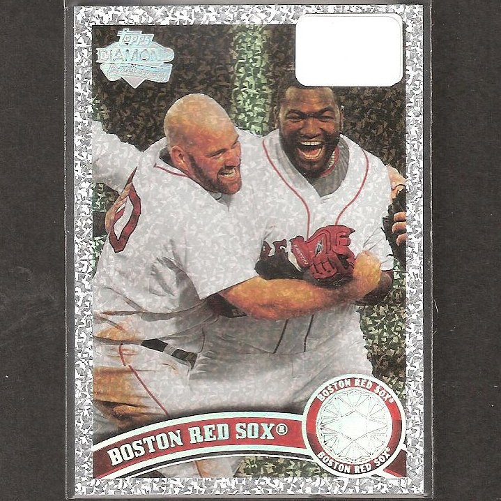 RED SOX TEAM CARD - 2011 Topps Diamond Anniversary - Youkilis & Ortiz