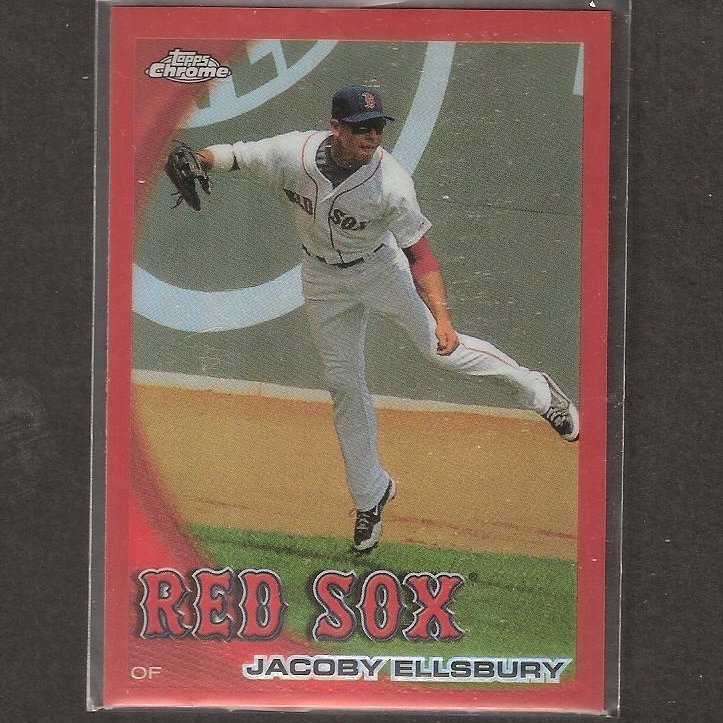 JACOBY ELLSBURY- 2010 Topps Chrome ORANGE REFRACTOR - Boston Red Sox