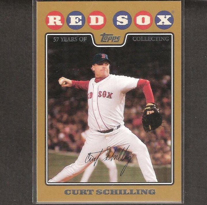 CURT SCHILLING - 2008 Topps Gold - Boston Red Sox - Serial #1576/2008