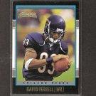 DAVID TERRELL 2001 Bowman Gold ROOKIE - Bears & Michigan Wolverines