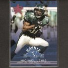 MICHAEL LEWIS 2002 Leaf Rookies & Stars Short Print RC - Eagles, Rams & Colorado Buffaloes