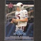 PRESTON PARSONS 2002 Leaf Rookies & Stars Short Print RC - Cardinals & Northern Arizona