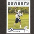 DREW HENSON 2004 Topps ROOKIE - Cowboys & Michigan Wolverines