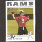 JEFF SMOKER 2004 Topps ROOKIE - Rams & Michigan State Spartans