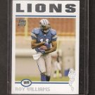 ROY WILLIAMS 2004 Topps ROOKIE - Lions, Cowboys & Texas Longhorns