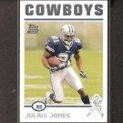 JULIUS JONES 2004 Topps ROOKIE - Cowboys & Notre Dame Fighting Irish
