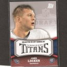 JAKE LOCKER 2011 Topps Rookie Rising - Titans & Washington Huskies