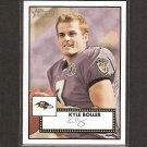 KYLE BOLLER - 2006 Topps Heritage Short Print - Ravens & Cal Golden Bears
