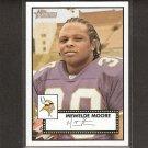 MEWELDE MOORE - 2006 Topps Heritage Short Print - Vikings, Steelers & Tulane Green Wave