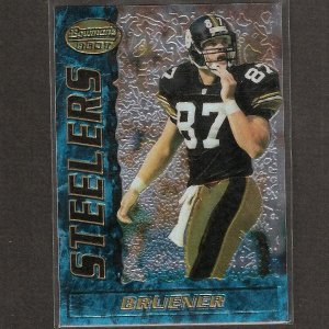 MARK BRUENER 1995 Bowman's Best Rookie - Steelers & Washington Huskies