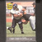CHRIS ZORICH - 1991 Ultra Update ROOKIE CARD - Bears & Notre Dame Fighting Irish