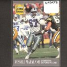 RUSSELL MARYLAND - 1991 Ultra Update ROOKIE CARD - Cowboys & Miami Hurricanes