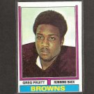 GREG PRUITT - 1974 Topps Rookie Card - Browns & Oklahoma Sooners