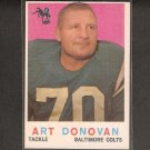 ART DONOVAN - 1959 Topps - Colts & Ohio State Buckeyes