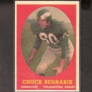 CHUCK BEDNARIK - 1958 Topps - Eagles & University of Pennsylania