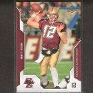 MATT RYAN - 2008 Upper Deck Draft Edition RC - BC Eagles & Atlanta Falcons
