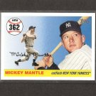 MICKEY MANTLE - 2007 Topps Home Run HR #362 - New York Yankees