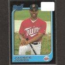 JACQUE JONES - 1997 Bowman Rookie Card - Minnesota Twins
