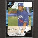 MATT KEMP - 2005 Bowman Rookie Card - LA Dodgers