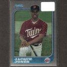 JACQUE JONES - 1997 Bowman Chrome Rookie Card - Minnesota Twins
