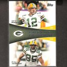 AARON RODGERS & GREG JENNINGS 2011 Topps Faces of the Franchise - Green Bay Packers